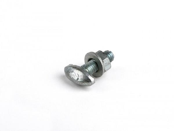 Tornillo fijación guardabarros (lateral) M5x15mm -CALIDAD OEM, tipo T- Vespa Sprint150 (VLB1T), GTR125 (VNL2T), GT125 (VNL2T), GL150 (VLA1T), SS180 (VSC1T), GS160 / GS4 (VSB1T) - modelos con embellecedores