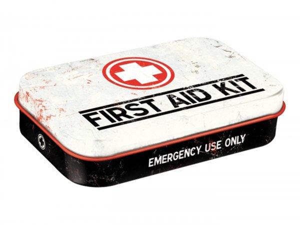 "Pillendose, XL -Nostalgic Art- ""First Aid Kit"" - 6x9.5x2cm"