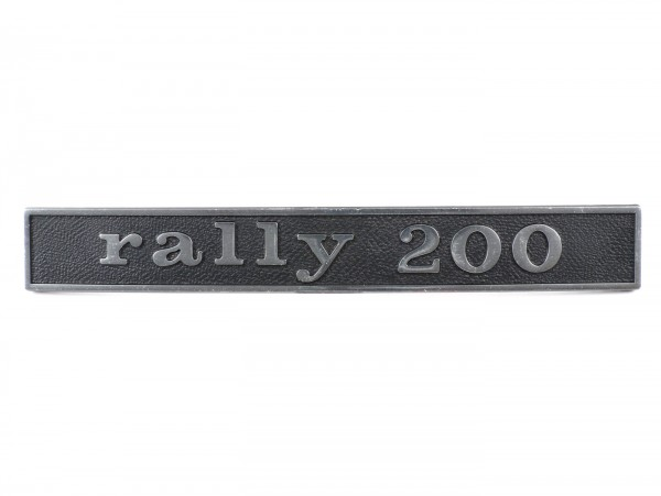Badge frame rear -OEM QUALITY- Vespa Rally200 (rectangle) - Vespa Rally200 (since 1976)