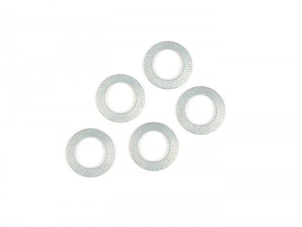 Rondella sicurezza (Schnorr) -DIN 6796 in acciaio armonico, zincato- M7 - 5 pz