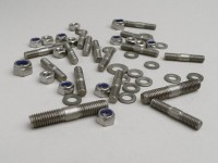 Stud set chaincase cover -LAMBRETTA- LI (series 2-3), LIS, SX, TV (series 2-3), DL, GP - stainless steel