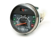 Speedo -LML, version 2007, with neutral switch - Vespa Ø=105mm -Star/Stella 2T/4T- 70mph / 120km/h