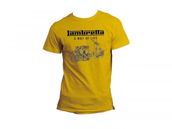 T-shirt -LAMBRETTA - A way of life- homme - jaune - L