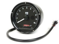 Tachometer -KOSO analog, 10000 rpm, shift light- universal (Ø=85mm) - black