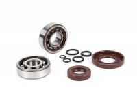 Bearing and oil seal set for crankshaft -BGM ORIGINAL- Vespa V50, PV125, ET3, PK50, PK80, PK125 - 1x 6303 + 1x NU204