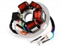 Zündung -CIF Grundplatte- Vespa PX Lusso (ohne Batterie 1984-2011), PX Lusso Elestart (mit Batterie 1998-2011) - 5 Kabel