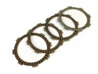 Clutch friction plate set -BGM PRO SPORT- type Honda CR80, for BGM PRO Superstrong CR, CR 2.0 Ultralube clutch spider, Ø=110mm- 4 discs