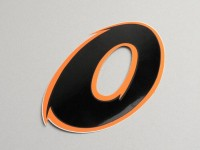Sticker -NUMBER- 0 - black/orange