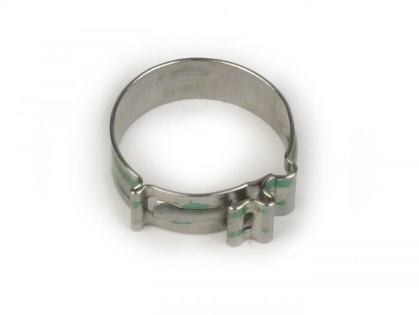 Hose clamp cobra type -NORMA- 21x8mm (used also for secondary air housing exhaust)
