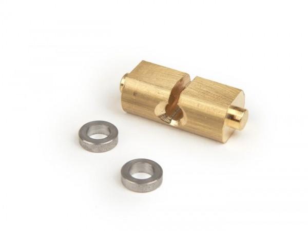 Slide for throttle cable inside handle bar -OEM QUALITY- Vespa Wideframe VM, VN, VL1T