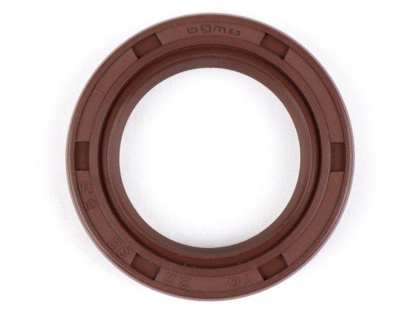 Retén 22x32x5,5mm -BGM PRO FKM/Viton® (resistente a E10)- (utilizado para eje pedal de arranque Lambretta LI, LIS, SX, TV (Serie 2-3), DL, GP - rueda trasera Minarelli 50 ccm (tipo MA, MY, CW, CA, CY))