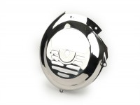 Flywheel cover -VESPA- V50 (V5A1T, 92877-), V90 (V9A1T, 22235-), SS50, SS90, PV, ET3  - stainless steel