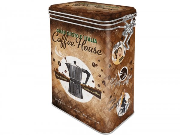 "Kaffeedose, Aromadose -Nostalgic Art- ""Coffee House"" - 7.5x11x17.5cm (1.3l)"