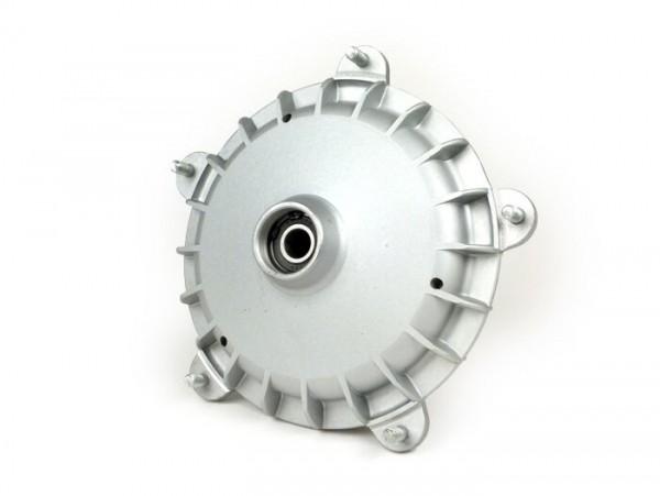 "Bremstrommel vorne 10"" -FA ITALIA- Vespa PX (Bj. 1982-1997), T5 125cc, PK S, PK XL, PK XL2 - Ø=20mm - Silbern"