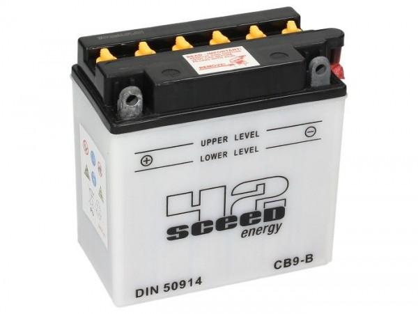 Batería -Standard SCEED 42 Energy- CB9-B - 12V, 9Ah - 140x76x137mm - ácido incl.