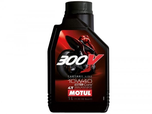 Öl - Motoröl -MOTUL 300V- 4-Takt SAE 10W-40 vollsynthetisch - 1000ml