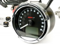 Tacho -KOSO 0-140km/h, 0-140mph, analog- universal (Ø=75mm)