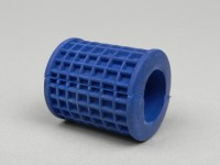 Kickstart rubber -OEM QUALITY- Vespa Largeframe - checkered (round) - blue