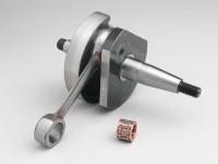 Cigüeñal -MAZZUCCHELLI Racing (válvula rotativa)- Vespa V50, PK50 S (cono Ø=19mm)
