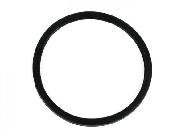 Headlight lens gasket -OEM QUALITY Ø=115/120mm- Vespa VNB, VBA,VBB, GS150 / GS3, GS160 / GS4 (VSB1T), VGLA, PV125, ET3, Super - black