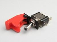 Interruptor con mando basculante -RACING paro de emergencia- rojo