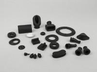 Rubber kit -MADE IN INDIA- Vespa VESPA V50 (V5A1T, 92877-914747), V50 S (V5SA1T, 15325-79734),V50 Special (V5A2T-V5A3T), SS50 (V5SS1T-V5SS2T), V90 (V9A1T-184926), SS90 (V9SS1T-V9SS2T), PV125 (VMA1T-VMA2T, 0192144) - small