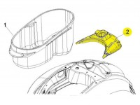 Copertura sottosella dietro vano casco -PIAGGIO- GTS 125-300 (ZAPM31, ZAPM45), Vespa GTV (ZAPM31, ZAPM45)