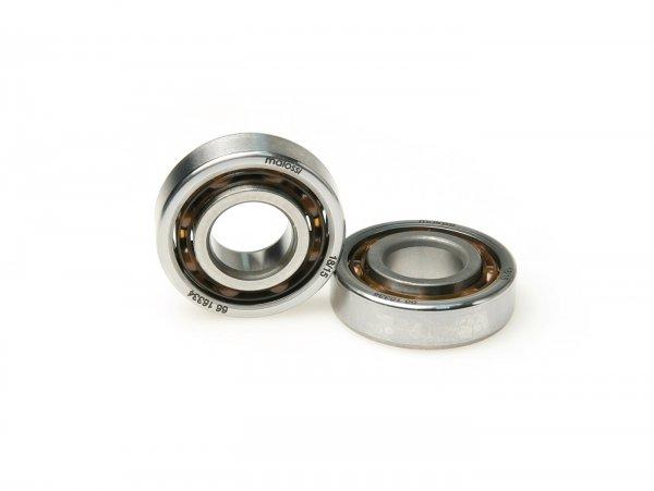 Rodamiento de bolas para cigüeñal -MALOSSI MHR C-/RC-One-  (20x47x12,7mm) - C4 poliamida, bolas Ø=7,9mm, anillo interior carbonitrurado -