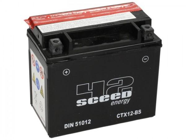 Batterie -Wartungsfrei SCEED 42 Energy- CTX12-BS - 12V, 10Ah - 152x88x131mm (inkl. Säurepack)