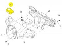 Abdeckung Bremspumpe -PIAGGIO- Vespa GT L 125 (ZAPM31101), GT L 200 (ZAPM31200), GTS 125 (ZAPM31300), GTS 250 (ZAPM45100, ZAPM45101), GTS 300 (ZAPM45200, ZAPM45202), GTS i.e. Super 125 (ZAPM45300, ZAPM45301), GTS i.e. Super 300 (ZAPM45200, ZAPM4520 -