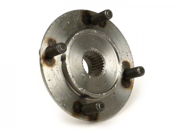 Soporte tambor trasero -CALIDAD OEM, pernos de sujeción Ø=8mm, engranaje fino (38 dientes)- Vespa VN, VNA, VNB1T-VNB2T, VL1T, VB, VBA1T, VBB1T (-71000), GS150 / GS3 (VS1T-VS4T)