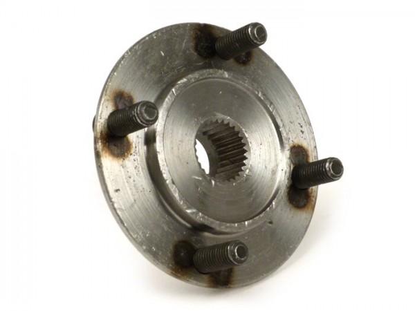Rear brake hub -OEM QUALITY- studs Ø=8mm, finely toothed (38 tooth)- Vespa VN, VNA, VNB1T-VNB2T, VL1T, VB, VBA1T, VBB1T (-71000), GS150 / GS3 (VS1T-VS4T)