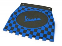 Rear mudflap -CLASSIC Vespa, checkered- black/blue