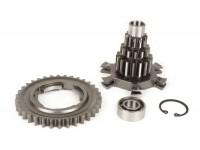 Kit ingranaggio multiplo incl. ingranaggio 4a marcia a 34 denti -BENELLI tipo Drag Cluster- Vespa PX125, PX150, PX200, T5 125cc, Cosa, Rally - 12-13-17-17 denti
