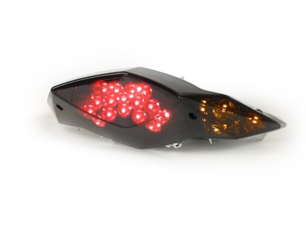 Rücklicht -STR8 Black Line LED mit Blinkerfunktion - Peugeot Speedfight 3