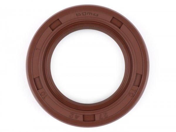 Wellendichtring 27x42x10mm -BGM PRO FKM/Viton® (E10 beständig)- Vespa V1-15, V30-33, VN, VM, VL, VD, VB, VGL, PX (ab Bj. 1992), T5 125cc, Cosa - verwendet für hintere Bremstrommel (Wideframe aussenliegend) / Hauptwelle (Largeframe innenliegend)