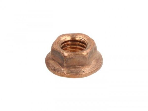 Tuerca con brida -DIN 6923- M7x1.00 - cobre