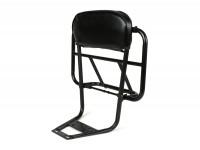 Rack with backrest incl. cushion -MOTO NOSTRA V2- Vespa PX80, PX125, PX150, PX200 - black