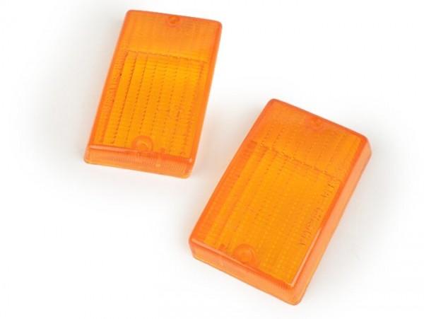Blinkergläser -BOSATTA 2er Set- Vespa PK50 S, PK80 S, PK125 S hinten - orange