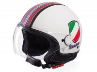 Casque -VESPA casque jet V-Stripes- blanc rouge (Casco White)- M (57-58cm)