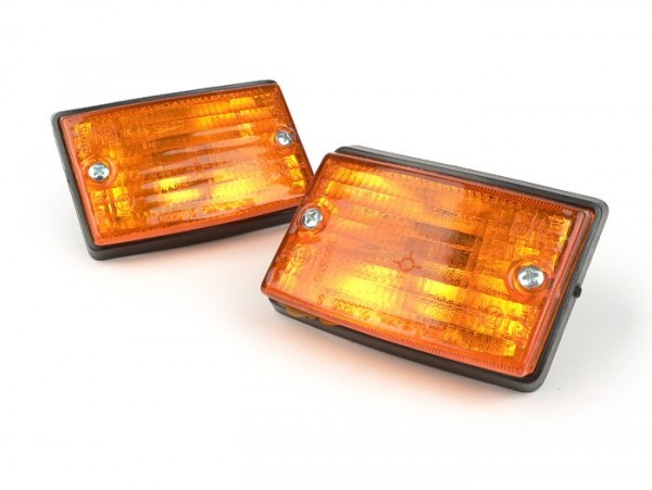 Blinker-Set -BOSATTA 2er- Vespa PK50 S, PK80 S, PK125 S vorne - orange