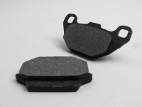 Brake pads -NEWFREN 64.1x36.8mm/85x44mm-  KYMCO People 125cc 1999 (f), People 150cc 1999 (f), People 200cc 2005 (f), People 50cc 1999 (f), Super 9 125cc 2000 (r), Super 9 250cc 2000 (r), Super 9 50cc 2000 (r)