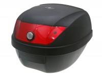 Topcase -101 OCTANE 28L- 395x300x395mm- schwarz - Reflektor rot