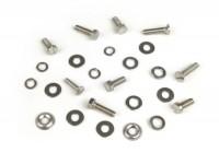 Kit tornillos para cubredirección -MB DEVELOPMENTS acero inoxidable- Lambretta LI (series 1-2), TV (series 1-2)