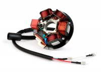 Zündung -BGM PRO Grundplatte HP V2.5 Silikon- Vespa PK XL - 5-Spulen, 6-Kabel (Rundstecker mit 3-Pin) - für Fahrzeuge ohne Batterie