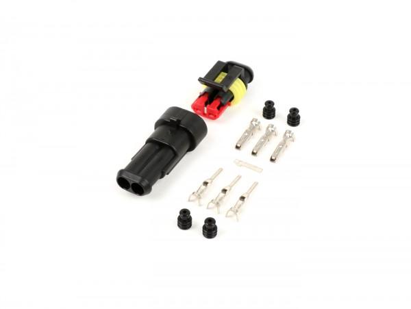 Stecker-Set für Kabelbaum -BGM PRO- Typ Serie 060 AM SpecialSeal, 0.85-1.25mm², Wasserdicht - 2 Steckkontakte