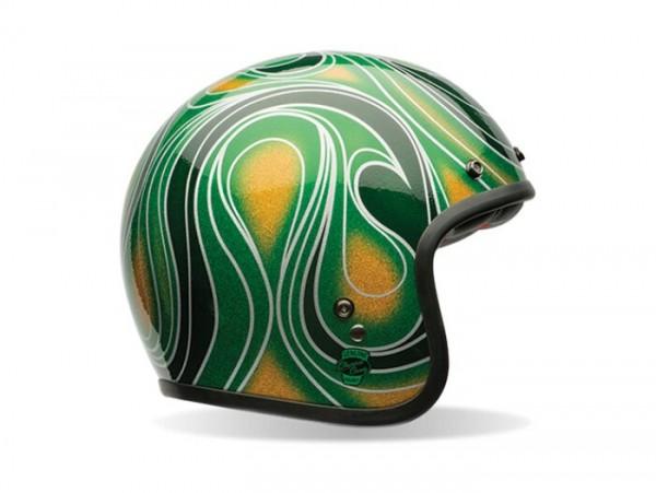 Casco -BELL Custom 500 Special Edition, Chemical Candy Green- casco jet, verde - L (59-60 cm)