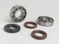 Kit cuscinetti e paraoli per albero motore -QUALITÀ OEM- Hyosung 50cc (tipo Rush)