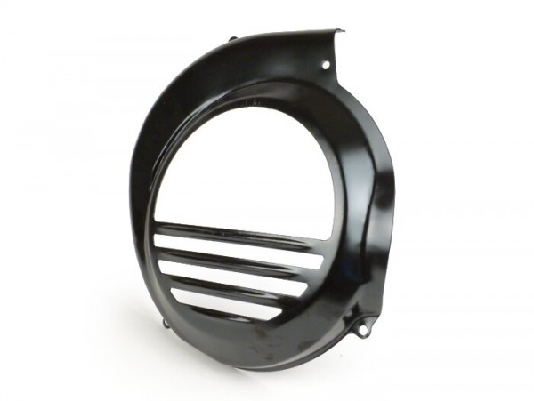 Flywheel cover -PIAGGIO- Vespa PX80, PX125, PX150, PX200 - black - models with electric starter