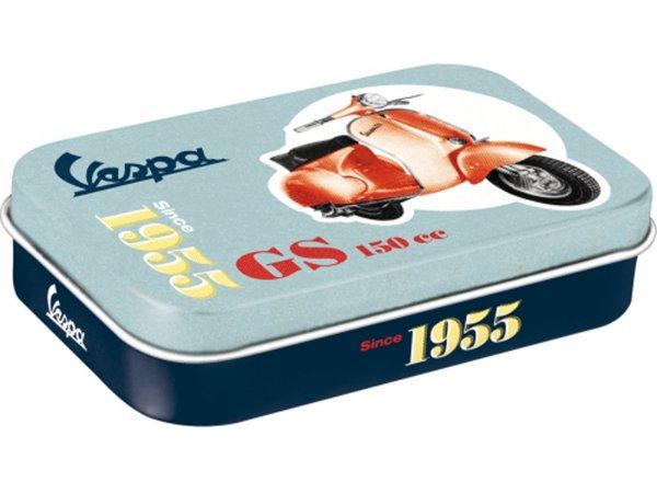 "Pillbox, XL -Nostalgic Art- Vespa, ""Vespa GS 150 Since 1955"" - 6x9.5x2cm"